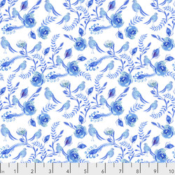 Chinoiserie Birds in Blue