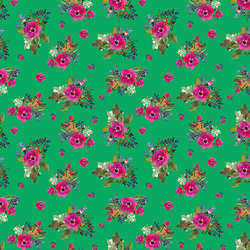 Small Jungle Floral in Leafy Green