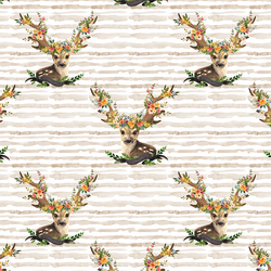 Large Meadow Deer in Tan Stripe