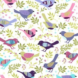 Happy Bird in Purple