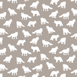 Little Fox Silhouette in Taupe