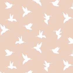 Hummingbird Silhouette in Shell