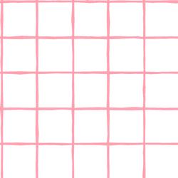 Windowpane in Rose Pink on White