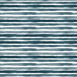 Watercolor Stripes in Dusty Blue