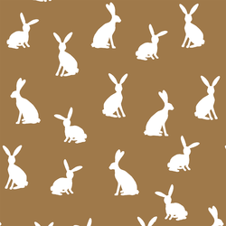 Cottontail Silhouette in Ochre