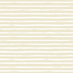 Watercolor Stripes in White on Soft Beige
