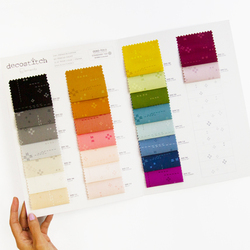 Art Gallery Decostitch Elements Color Card Panel in Swatches