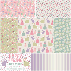 Hoppy Spring Fat Quarter Bundle in Pastel