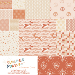 Summer Punch Fat Quarter Bundle in Summer Coral