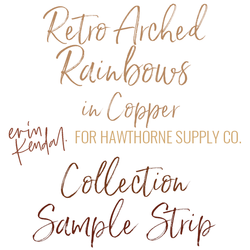 Retro Arched Rainbows Sample Strip in Copper