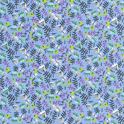 Jungle Floral in Periwinkle