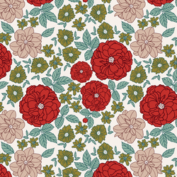 Retro Christmas Floral in Frosty