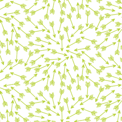 Arrows in Lime on White