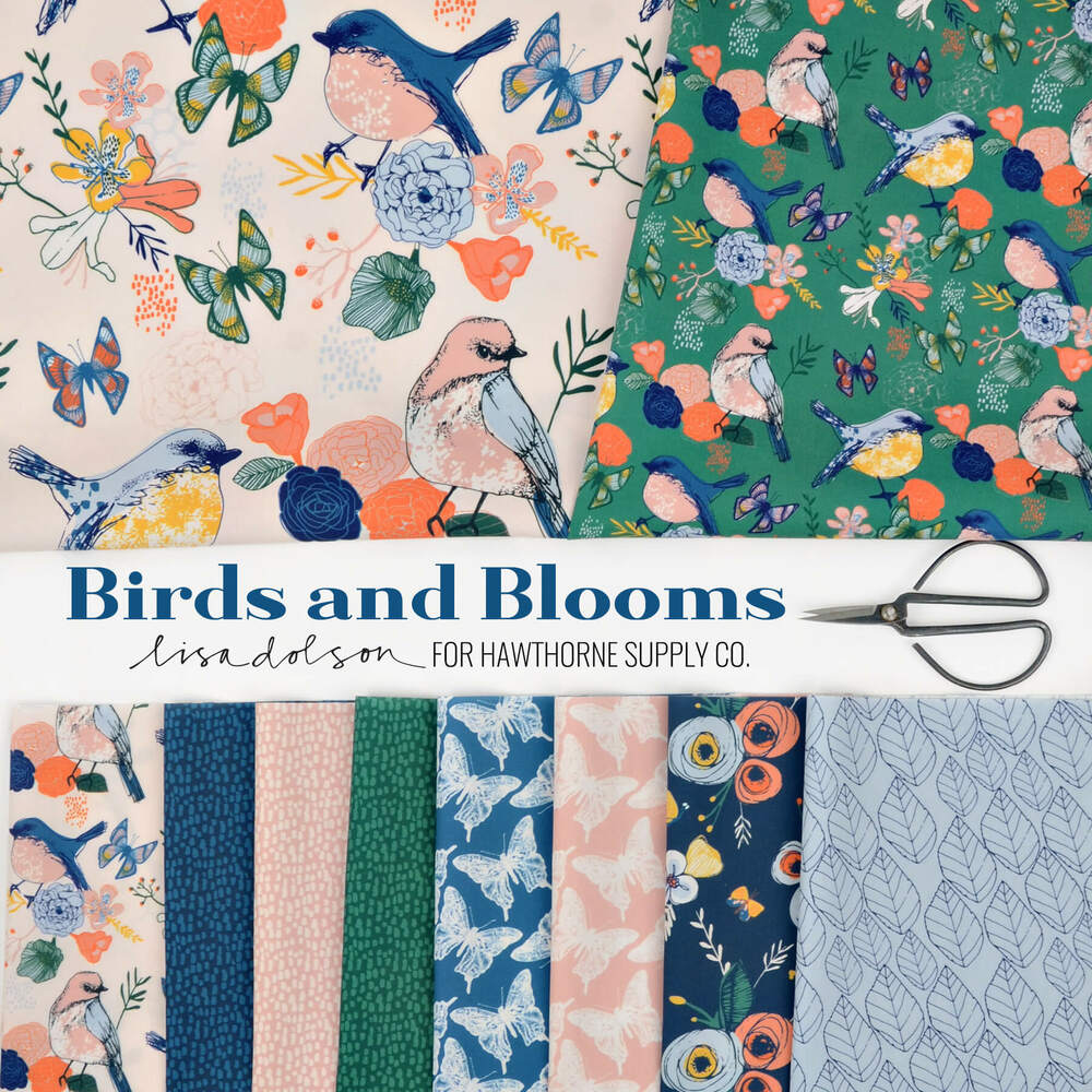 Birds and Blooms Poster Image