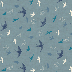 Swallows in Blue