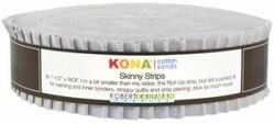 """Kona Solid 1.5"""" Strip Roll in Ash"""