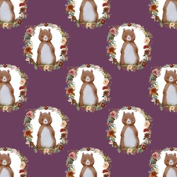 Small Woodland Bear in Plum