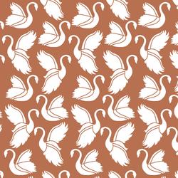 Swan Silhouette in Terracotta
