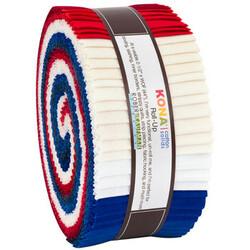 "Kona Solid 2.5"" Strip Roll in Patriotic"