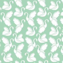 Swan Silhouette in Seaglass
