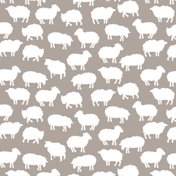 Sheep Silhouette in Taupe
