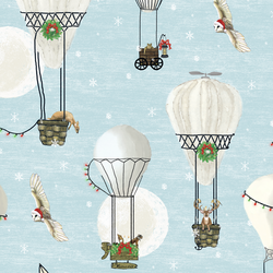 Large Christmas Balloon Ride in Ice Blue