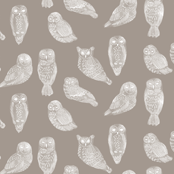 Snowy Owls in Dark Taupe