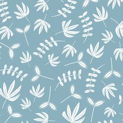 Needle Turn Leaves in Dusty Blue