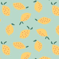 Lemons in Picnic Green