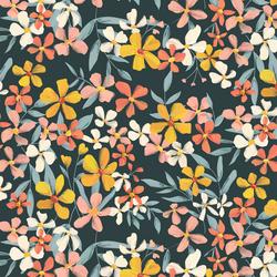 Blissful Blooms in Dark Slate