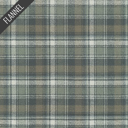 Mammoth Organic Optical Plaid Flannel in Storm