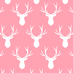 Stag Silhouette in Rose Pink