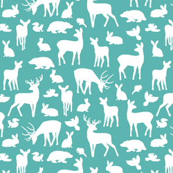 Forest Friends in Seafoam