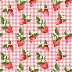 Strawberries in Wild Rose Gingham