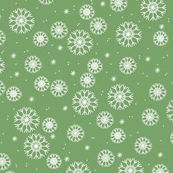 Snowflakes in Pistachio