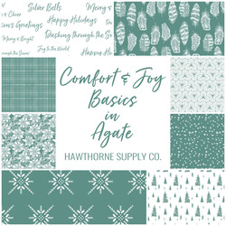 Comfort and Joy Basics Fat Quarter Bundle in Agate