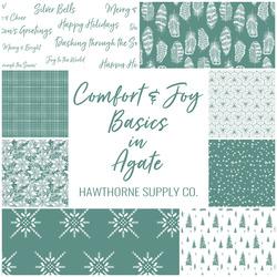 Comfort and Joy Basics Fat Quarter Bundle in Agate