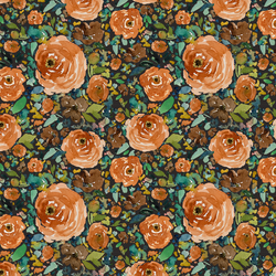 Small Copper Roses in Autumn Brown