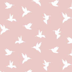 Hummingbird Silhouette in Blush