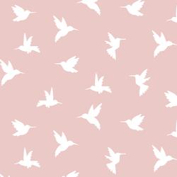 Hummingbird Silhouette in Blush