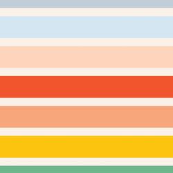 Large Rainbow Stripe in Summer Sunshine