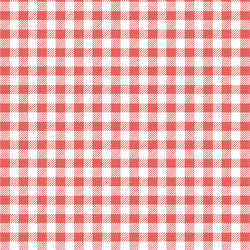 Small Buffalo Plaid in Salmon