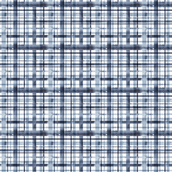 Water Plaid in White