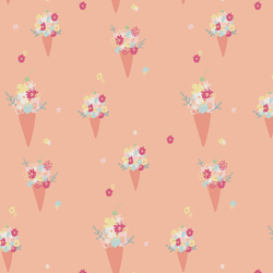 Blooming Ice Cream in Peach