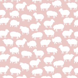 Sheep Silhouette in Blush