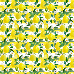 Small Lemons in Lemon Stripes