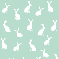 Cottontail Silhouette in Mint