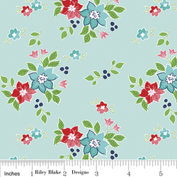 Seaside Floral in Aqua