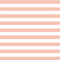 Horizontal Candy Stripe in Petal