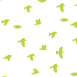 Flock Silhouette in Lime on White